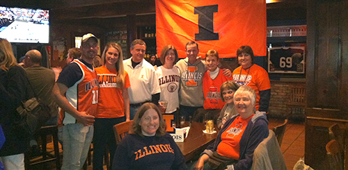 "<a href =""http://www.atlantaillini.com/"" target=""_blank"">Atlanta Illini</a> are at Rose & Tavern cheering loudly and taking over!"