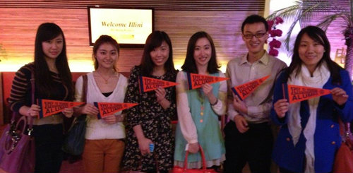 Alumni gathered in in Beijing at the Beijing Illini Club's kick-off event in January at Parnas Restaurant.