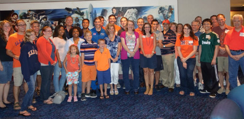 The Houston Illini Club hosted astronaut and alumnus Mike Hopkins at an event at the Space Center Houston - it was a great time with great alumni!