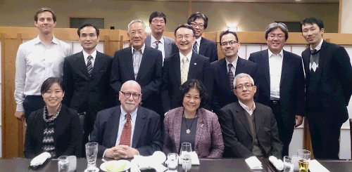 The Japan Illini Club welcomed Illinois Professor Finkin from the College of Law for a dinner in Tokyo.